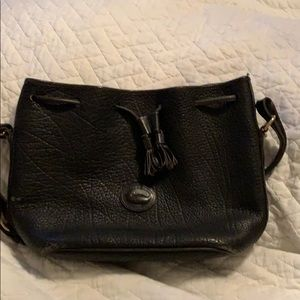 Rooney and Bourke leather drawstring bag